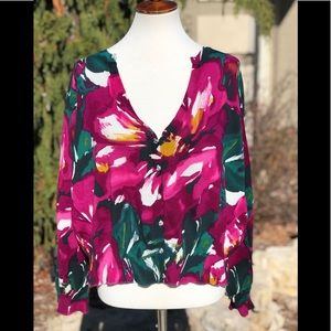NWT Lane Bryant sz 22/24 floral women's sweater